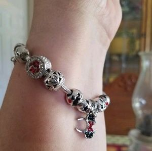 Disney Minnie Mouse Ears Charm Bracelet